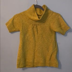 Apostrophe short sleeve wool sweater size small